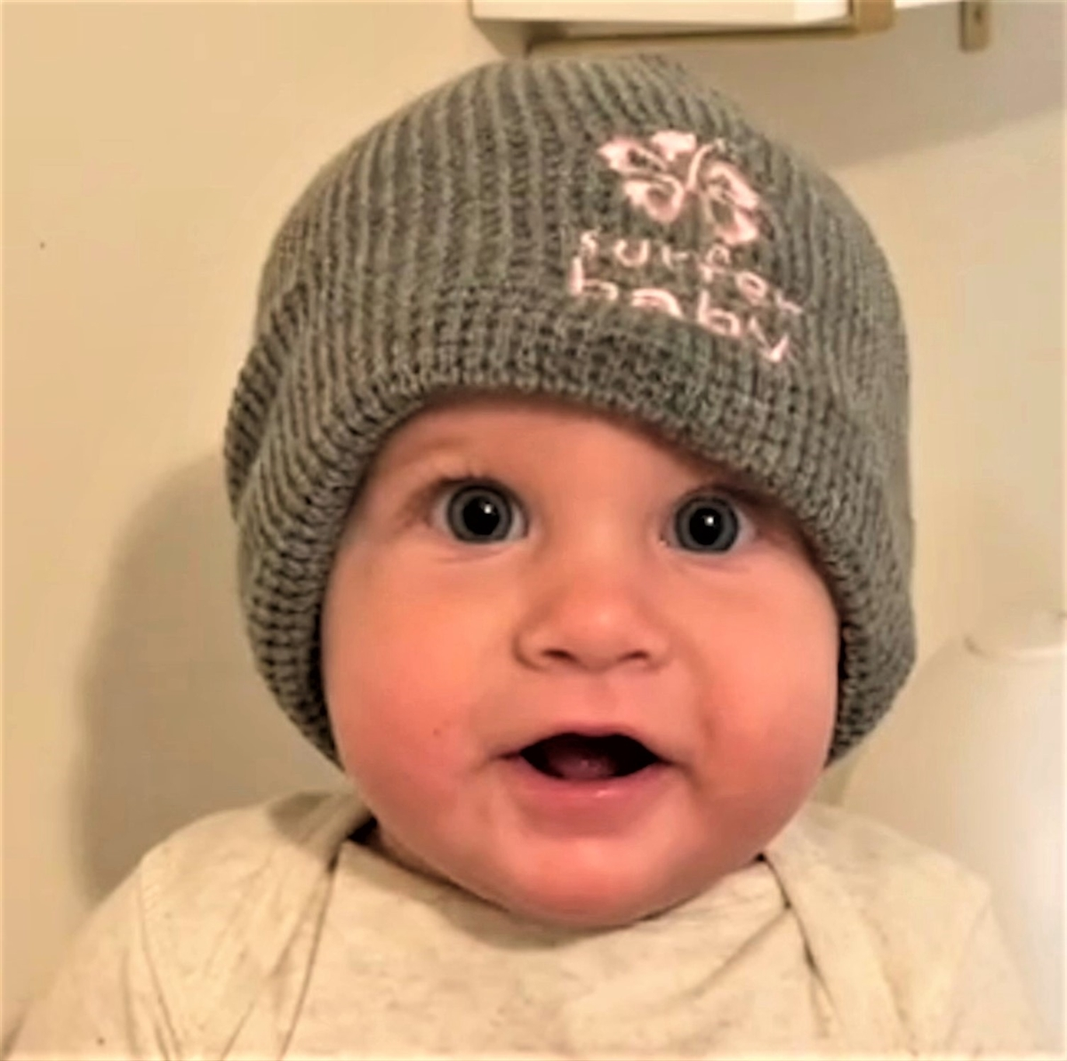 Better Surf than Sorry Surfer Baby Surfer Girl Cotton Beanie hat