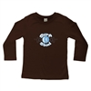 This soft 100% combed cotton infant long sleeve shirt is silkscreened with the cool Surf Stud design on the front of the shirt and a horizontal surfboard Surfer Baby logo on the upper back (see the example in grey)....