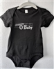 Ocean Beach OB infant baby onesie body suit black unisex