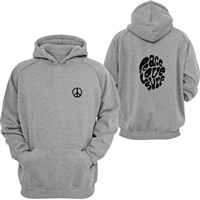 This youth pullover sweatshirt features a distressed Peace Love Surf design on the back and a small peace symbol on the front.  Sizes are small (fits 6-8 years), medium (fits 10-12 years), and large (fits 14-16...