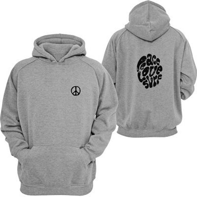Peace Love Surf Youth Hooded Pullover sweatshirt super soft unisex