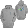 This youth pullover sweatshirt features a cool old school Surfer graphic on the back and a small surfboard on the front.   Sizes are small (fits 6-8 years), medium (fits 10-12 years), and large (fits 14-16...