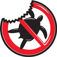 I'm Not a Turtle Shark repellent Sticker with Shark Bite