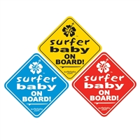 Surfer Baby on Board Safety Decal Sticker Sign