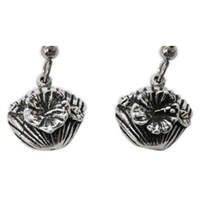 Beachcomber Womens Pewter Surf Earrings by Strickly Boarding