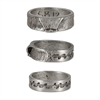 This wave ring is hand carved, made from 100% lead-free pewter and resembles a perfect a-frame peak. New school on one side and old school on the other. 2 rings for the price of one, depending on what you feel like wearing you have a ring for all...