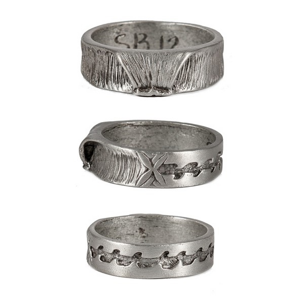 Double Up Mens Pewter Surf Ring By Strickly Boarding