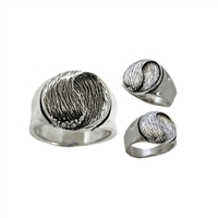 Flow Mens Sterling Silver Surf Wave Ring by Strickly Boarding