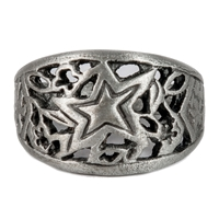 Part rockstar, part surf diva, this carved ring speaks as much to your inner rock star as it does to your inner surf star.   100% Handcarved Lead/Nickel Free Pewter Made in Carlsbad, California USA The...