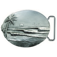 The Line Pewter Surf Belt Buckle by Strickly Boarding