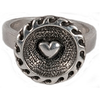Lovers Beach Womens Sterling Silver Surf Ring by Strickly Boarding