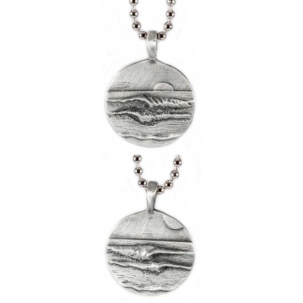 STERLING SILVER SURF BOARDER CHARM OR PENDANT