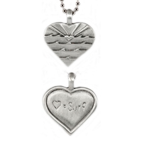 Love Sets Sterling Silver Surf Pendant by Strickly Boarding