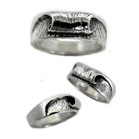 Peak Womens Sterling Silver Wave Surf Ring by Strickly Boarding