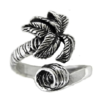 Palm Wave Sterling Silver Surf Ring by Strickly Boarding
