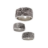 Reef Mens Sterling Silver Surf Ring by Strickly Boarding