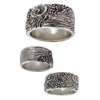 Reef Womens Sterling Silver Surf Ring by Strickly Boarding