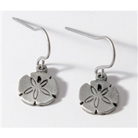 Sand Dollars Womens Pewter Surf Earrings by Strickly Boarding