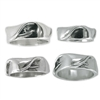 With its 360 degrees of design, this one of a kind wave ring lets you get eternally barreled, over and over and over again!  100% Handcarved .925 Sterling Silver Made in Carlsbad, California USA The...