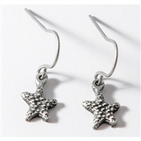 Star Fish Womens Pewter Surf Earrings by Strickly Boarding