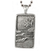 This pendant is made from lead free pewter and carved with natural highlights to resemble a perfect tropical point break.   100% Handcarved Lead/Nickel Free Pewter Made in Carlsbad, California USA The...