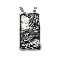 The Surf Tag Sterling Silver Surf Pendant by Strickly Boarding