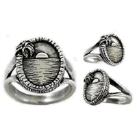Sunset Womens Sterling Silver Surf Ring by Strickly Boarding