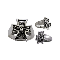 Shipwreck Mens Sterling Silver Surf Pirate Ring by Strickly Boarding