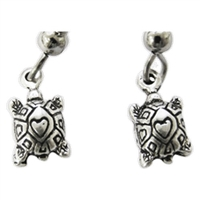Turtles Womens Pewter Surf Earrings by Strickly Boarding