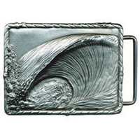 Teahupoo Pewter Surf Belt Buckle by Strickly Boarding