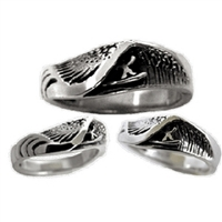 Wet Dreams Womens Sterling Silver Surf Ring by Strickly Boarding