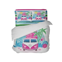 surf home decor bedroom Surf beach wave surfer bedding comforter sets peace vw groovy bus