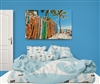 Surf bedding black & white comforter with pillow cases