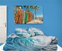 surf home decor bedroom Surf beach wave surfer bedding comforter sets