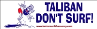 taliban don't surf sticker