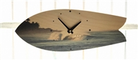 Classic Fish Shape Surfboard Clock w/ nice left barrel Print