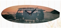 VW Bus Surfboard Shaped Clock