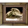 """Waimea Backwash"" Color Photographic Art Print, Waimea Bay, North Shore, Oahu, Hawaii. Matted in a Natural Grass Mat and framed in a handmade Natural Bamboo Frame. Bamboo Frame is hand sanded and stained twice. Made in California, USA. Dimensions;..."
