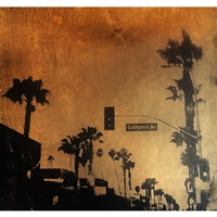 "California Avenue. Silkscreen image of California Avenue in Venice, California. Handpulled silkscreen on Birch wood panel. Original, signed by the artist. Dimensions: 2"" x 24"" x 24""..."