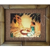 """Lei Makers"" Eric Gill Classic Hawaiian Art, Circa 1940's. Matted in a Natural Grass Mat and framed in a handmade Natural Bamboo Frame. Bamboo Frame is hand sanded and stained twice. Handmade in the USA. Dimensions; Print 11"" x 14"", Natural Grass Mat..."