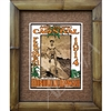 """Mid Pacific Carnival 1914"" Classic Hawaiian Art Print. A young Duke Kahanamoku in a classic stance, surfing a wave. Great colors. Matted in a Natural Grass Mat and framed in a handmade Natural Bamboo Frame. Bamboo Frame is hand sanded and stained..."