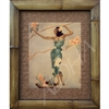 """Hula girl in Green"" Eric Gill Classic Hawaiian Art, Circa 1940's. Matted in a Natural Grass Mat and framed in a handmade Natural Bamboo Frame. Bamboo Frame is hand sanded and stained twice. Handmade in the USA. Dimensions; Print 11"" x 14"", Natural..."