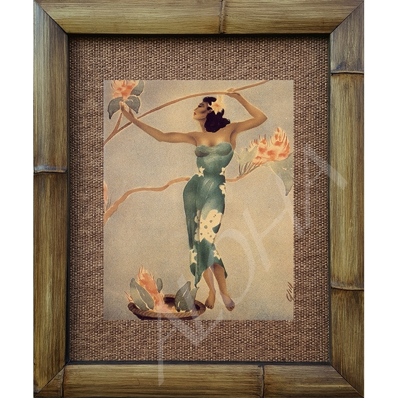 Removed Vintage hawaiian hula girl art