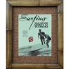 """Surfing and Beach Sprots at Waikiki"". Outrigger Canoe Club art print. Circa 1940's. Vintage Hawaiian Art Print. Matted in a Natural Grass Mat and framed in a handmade Natural Bamboo Frame. Bamboo Frame is hand sanded and stained twice. Handmade in..."