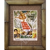 """Ride the Wild Surf"", vintage surf movie art print. Great surf movie poster. Vintage surfing. Matted in a Natural Grass Mat and framed in a handmade Natural Bamboo Frame. Bamboo Frame is hand sanded and stained twice. Handmade in the USA...."