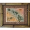 """Hawaiina Island Map"" Circa 1924. Matted in a Natural Grass Mat and framed in a handmade Natural Bamboo Frame. Bamboo Frame is hand sanded and stained twice. Handmade in the USA. Dimensions; Print 11"" x 14"", Natural Grass Mat 16"" x 20"", Natural..."