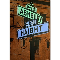 Haight Ashbury sign Summer of Love 1969. Very cool Haight Asbury sign from the summer of love 1969.  Hand pulled silkscreen from photograph of the orignal sign in 1969. Sign has now been replaced with a modern version, which makes this image all the...