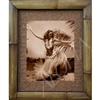 """Hula Girl, Tahiti"" Circa 1950's. Matted in a Natural Grass Mat and framed in a handmade Natural Bamboo Frame. Bamboo Frame is hand sanded and stained twice. Handmade in the USA. Dimensions; Print 11"" x 14"", Natural Grass Mat 16"" x 20"", Natural..."