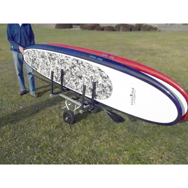 Paddle Board Rack >> Wheeleez Stand Up Paddle Board Single Cart W Optional Beach Balloon Wheels