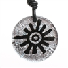Beautiful Rock Art Sun Symbol Hand Crafted Silver color Dichroic Glass Pendant. This fun and unique Dichroic Glass Sun symbol Pendant is sure to lift your spirits and set you apart from the crowd. Proudly Made In The U.S.A made in USA iconAll...